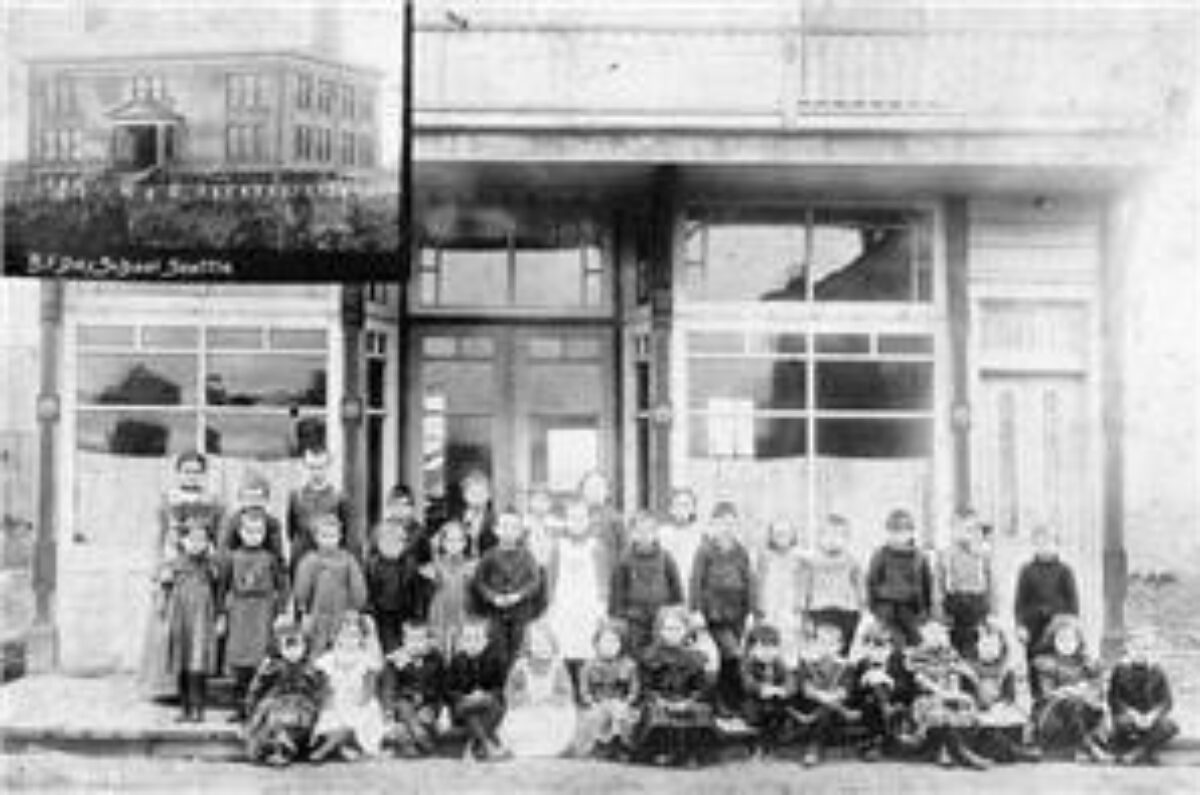 Students outside BF Day 1889
